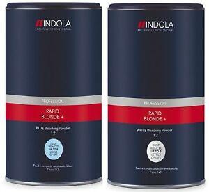Indola Rapid + Blond Dust-Free Powder Hair Bleach 450g – CHOOSE: WHITE or BLUE